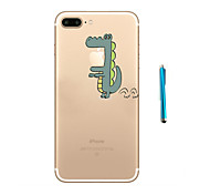 Crocodile Pattern  Soft TPU Bumper Case for Apple iPhone 7 Plus 7 and Stylus
