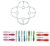 Generic Cheerson CX-10 RC Parts Accessories / Propeller Guards / Spare Part / Propellers RC Quadcopters / RC Helicopters / DronesRed / White 16PCS