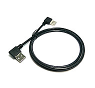 1M Double Elbow Double-Sided USB Male to Male Cable USB Right and Left Elbow 90 Degrees Male to Male