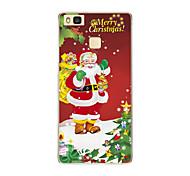 Für Durchscheinend / Muster Hülle Rückseitenabdeckung Hülle Weihnachten Weich TPU HuaweiHuawei P9 / Huawei P9 Lite / Huawei P8 / Huawei
