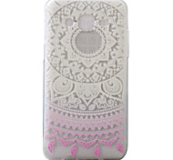 For Samsung Galaxy J5 J5(2016) Case Cover Gradient Lace Pattern Painting Super Soft TPU Material
