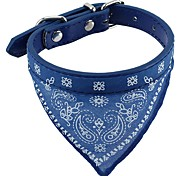 Cat / Dog Collar Soft / Bandanas / Hands free / Cosplay / Casual Solid Red / Black / Blue Fabric / PU Leather