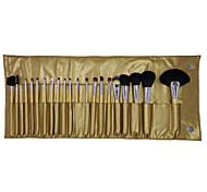 17 Makeup Brushes Set Goat Hair Portable Face NFSS