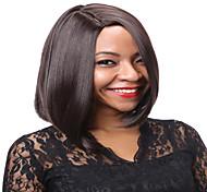 pelucas sintéticas de pelo Marrón Color rectas cortas para las mujeres