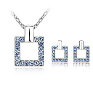 Thousands of colors  Jewelry Necklaces / Earrings Jewelry set Crystal Fashion Daily 1set Women Light -1-0722-020