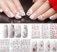 4pcs Nail Art Sticker Adesivi 3D unghie makeup Cosmetic Nail Art Design