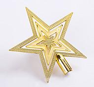 1шт 20см факультативные рождественской елки Topstar украшения гальваническим пластиковую пятиконечную звезду для домашнего рождественские