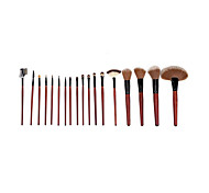 18 Makeup Brushes Set The Persian Wool Portable Wood Face G.R.C / Send Package