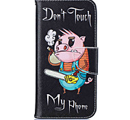 Card Holder Wallet with Stand  Pig Pattern Case Full Body Case Hard PU Leather For Samsung Galaxy S7 edge S7 S6 edge S6 S5
