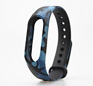camouflage  Pattern TPU Watch Band for Xiaomi Miband 2