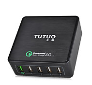 TUTUO 40W 5-Port USB Travel Quick Charger Universal Charger for Apple Samsung Huawei xiaomi and Other cell phone