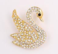 Fashion Full Rhinestone Alloy Brooch Swan Brooch Wedding Brooches for Women
