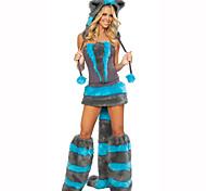 Festival/Celebração Trajes da Noite das Bruxas Azul / Cinzento Estampado Vestido / Aquecedores de Pernas / ChapéuDia Das Bruxas / Natal /