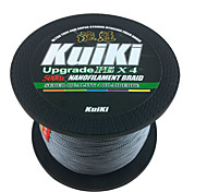 Kuiki 500M / 550 Yards PE Braided Line / Dyneema / Superline Fishing Line Gray 0.4# 10.6LB 0.105 mm ForSea Fishing / Ice Fishing / Freshwater Fishing
