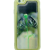 Two Butterflies Pattern Soft TPU Case Cover PU Leather Protective Case with For iPhone 6/6S