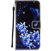 Для Кошелек / Бумажник для карт / со стендом / Флип Кейс для Задняя крышка Кейс для Бабочка Твердый Искусственная кожа для AppleiPhone 7