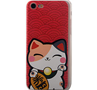 Para Diseños Funda Cubierta Trasera Funda Gato Dura Acrílico para Apple iPhone 7 Plus / iPhone 7 / iPhone 6s Plus/6 Plus / iPhone 6s/6