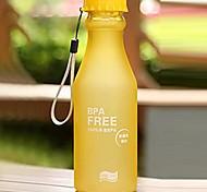 3PCS 550Ml Plastic Water Bottle Fashion Leakproof Unbreakable Travel Sport Lemon Juice Cup Drinkware Water Bottle Random Color