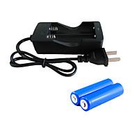 Батареи Зарядные устройства LED 2000 Люмен 3 Режим - 2 x Батареи 18650 Перезаряжаемый Экстренная ситуация Ночное видение Очень легкие