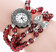 XU Men Fashion Natural Red Agate Round Pendants Watch
