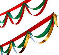 1Pcs Random Colors Christmas Decoration For Home Party Diameter 400CM Navidad New Year Supplies Christmas Flags Silk Ribbon