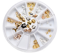 Mix Sizes Clear Pink Grey Glitter 3d Nail Art Rhinestone Decoration Wheel Nail alloy jewelry Mermaid Tortoise Shells Conch Boxes Hippocampus