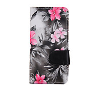 For Apple iphone 7 iphone7 Plus iphone6s iphone6s Plus iphone6 iphone6 plus iphoneSE iphone5s iphone5  Flowers PU Leather Case