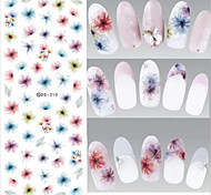 2 Nail Art Sticker  Water Transfer Decals / Diecut Manicure Stencil / 3D Nail Stickers Makeup Cosmetic Nail Art Design