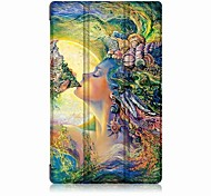 Oil Painting PU Leather Case with Sleep for 8.9 Inch Amazon New Fire HD8