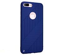 Для Ультратонкий Кейс для Задняя крышка Кейс для Полосы / волосы Мягкий Силикон для Apple iPhone 7 Plus / iPhone 7