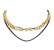 Fashion Double Layers Chain Necklaces