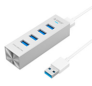 ORICO ASH4-U3 High Speed 5Gbps 4-port USB 3.0 Aluminum HUB With Type-c USB Cable- Silver