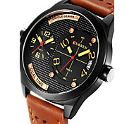 Hombre Reloj Deportivo / Reloj Militar / Reloj de Vestir / Reloj de Moda / Reloj de Pulsera Cuarzo JaponésCalendario / Dos Husos Horarios