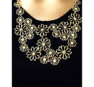 Necklace Statement Necklaces Jewelry Gift / Party / Daily / Office & Career Flower Adjustable Alloy Women 1pc Gift Gold
