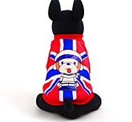 Monkey Pattern England Style Winter Vest for Pets Dogs (Assorted Sizes and Colours)