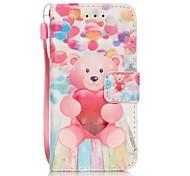 palloncino cassa del telefono dell'orso 3D pittura PU per Apple iTouch 5 6