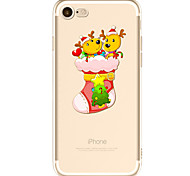 For Apple iPhone 7  6S Case Cover Christmas Pattern Painted TPU Material Soft Package Phone Case