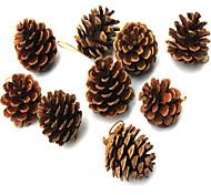 9 pcs The Christmas Tree To Hang Natural Color Pinecone 4 cm Christmas Supplies