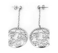 Fashion Flower Hollow 316L Stainless Steel Drop Earring