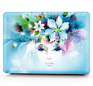 MacBook Case for New MacBook Pro 15-inch New MacBook Pro 13-inch Macbook Sexy Lady Flower Polycarbonate Material