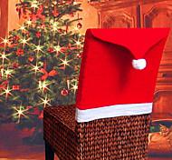 1pcs de Navidad Conjuntos de silla de mesa de Navidad suministra el sombrero decorativo de Navidad