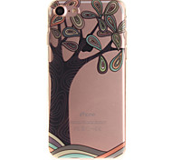 For iPhone 7 6S 6 TPU Material IMD Process Hand-Painted Tree Pattern Phone Case