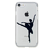 For Pattern Case Back Cover Case Dancer Soft TPU for Apple iPhone 7 Plus / 7 / iPhone 6s Plus/6 Plus / iPhone 6s/6 / iPhone  SE / 5s / 5