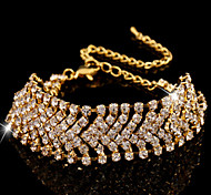 Women's Chain Bracelet Simulated Diamond Alloy Fashion Jewelry 1pc