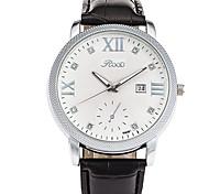 Men's Wrist watch Quartz Calendar Genuine Leather Band Cool Casual Black Brand