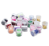 24pcs/lot Sequins Nail Art Decoration Color Powder