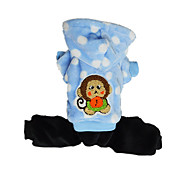 Dog Coat Clothes/Jumpsuit Dog Clothes Cute Casual/Daily Keep Warm Polka Dots Blue