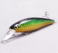 1 pcs Hard Bait / Minnow Minnow Dark Blue / Green / Pink / yellow shad / Dark Green / Random Colors / Red 10 g/3/8 oz. Ounce mm/3-1/4""