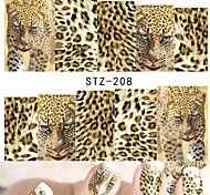 1 Sheets Nail Art Full Wraps DIY Sexy Tiger Skin for Nails Decor Designs Nail Water Transfer Sticker Nail Decals