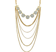 Fashion Gold Color Multilayers Chunky Chain Necklace